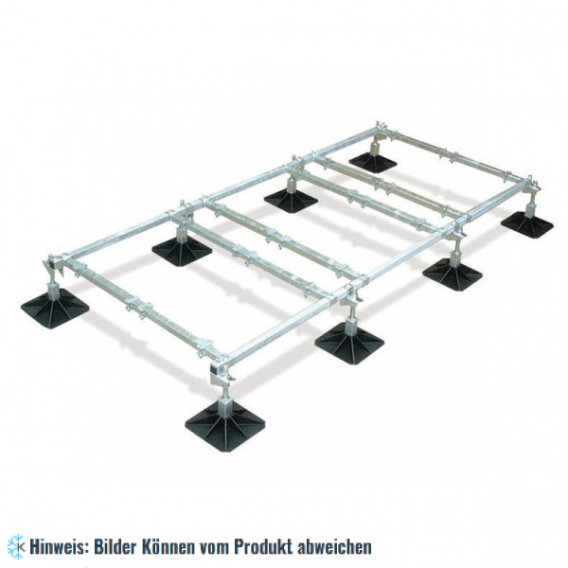 Rahmenkonstruktion 6-Einheit - 3000x1500 mm, 305 mm Fuss, H=360 mm
